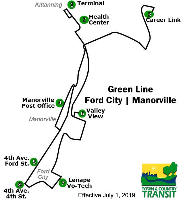 2018 Green Line Map